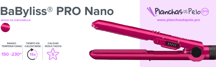 Plancha de pelo mini BaByliss PRO Nano