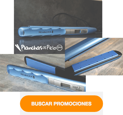 Plancha de pelo con vapor Remington Wet2straight